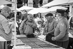 Collectors on sunday (Andrea Rizzi Esk) Tags: coin money collectors collection old people tradition men sunday black white bw talking sell buy