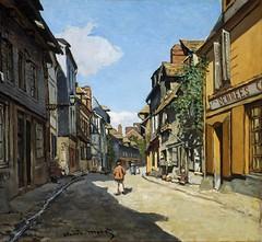 Claude Monet – Museum of Fine Arts (Boston) 48.580.  Rue de la Bavole, Honfleur (c. 1864) (lack of imagination) Tags: blog claudemonet houses museumoffineartsboston people townscape