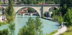 Bern (ANNE LOTTE) Tags: brücke bern schweiz fluss zug