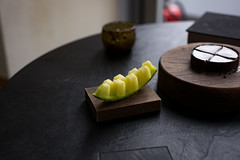 Petit Four: Japanese Melon (The Cereal Eater) Tags: écriture maximegilbert central hongkong michelin 2019
