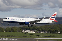 G-NEOP Airbus A321NEO British Airways Glasgow airport EGPF 02.05-19 (rjonsen) Tags: plane airplane aircraft aviation airliner flying landing airside runway