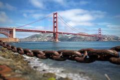 Golden Gate Bridge (vwcampin) Tags: presidio bay sanfranciscobay pacific chain sanfrancisco presidiopark goldengatebridge california coast ocean water summer bridge park iphoneography iphoneographer iphonology iphoneology