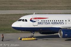 G-EUPT Airbus A319 British Airways Heathrow airport EGLL 26.02-19 (rjonsen) Tags: plane airplane aircraft aviation airliner airside pushback