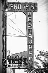 Philip's Restaurant (Thomas Hawk) Tags: america pennsylvania philadelphia philipsrestaurant philly usa unitedstates unitedstatesofamerica bw neon neonsign restaurant