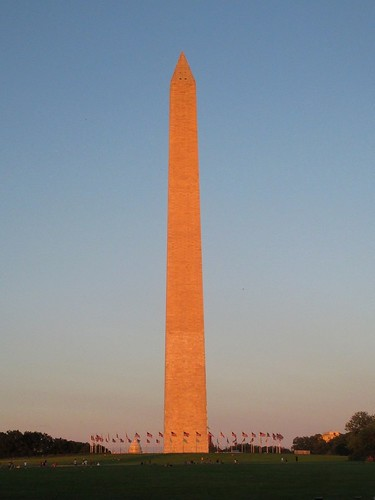 Washington Monument in the Evening Light