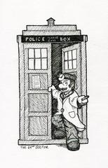 The 64th Doctor (Josh Beck 77) Tags: drawing sketch traditional pen fanart mario doctormario drmario doctorwho tardus nintendo nintendofanart supermario