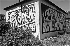 Graffiti Art  Monochrome (brianarchie65) Tags: flintongrove prestonroad stjohnsgrove easthull kingstonuponhull monochrome houses graffiti painting house art brianarchie65 geotagged canoneos600d unlimitedphotos dereliction derelict trash rubbish litter