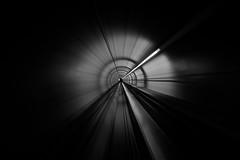 fast forward (maekke) Tags: zürich airport zürichairport underground tunnel longexposure fujifilm x100f abstract motion 35mm bw noiretblanc 2019 ch switzerland