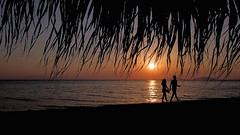 Sunset Dreams (Bo.Th) Tags: greece sun sunset summer water walk romantic relax reflection sea beach people weather travel sky holidays outdoor light silhouette landscape calm seaside seascape dreaming colors view