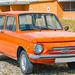 Old cars ZAZ-968M orange color
