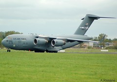 US AIR FORCE C17 06-6156 (Adrian.Kissane) Tags: ireland runway shannonairport taxing aviation grass sky outdoors aeroplane transporter cargo aircraft jet plane usairforce 066156 3052019 c17 shannon usaf