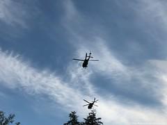 Blackhawks over the reservoir. (CIAphotos) Tags: helicopters helicopter blackhawk blackhawkhelicopter aberdeenwa choppers