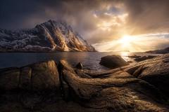 Swept Ashore (Ryan Dyar) Tags: ryandyar arctic light fjord mountains mountain storm sunset lofoten norway
