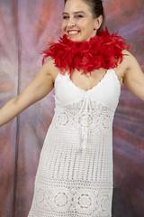 DSC_0481 (photographer695) Tags: laura from russia shoreditch studio london cream dress red ostrich feather boa portrait