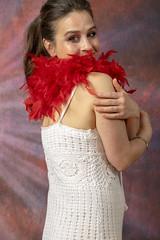 DSC_0454 (photographer695) Tags: laura from russia shoreditch studio london cream dress red ostrich feather boa portrait
