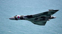 Vulcan (Bernie Condon) Tags: avro vulcan bomber raf royalairforce military warplane classic preserved vintage bombercommand strikecommand 1group vtts xh558 airshow aircraft plane flying aviation display sussex lowlevel beachyhead sea