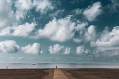 Aire, mar y tierra (una cierta mirada) Tags: landscape seascape cloudscape clouds sky beach sea mediterranean summertime santapola