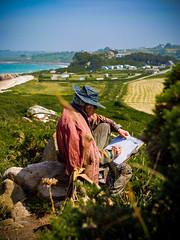 Sur le motif (walden.gothere) Tags: painter nikon nikond80 nikkor nikkor35mm nature colors paint sea seashore bretagne brittany brittain 35mm 35mmf18 35 reflex d80 dslr dx