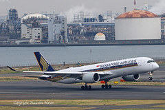 A350 9V-SMP SINGAPORE AIRLINES 1 (shanairpic) Tags: jetairliner passengerjet a350 airbusa350 tokyo haneda singaporeairlines 9vsmp