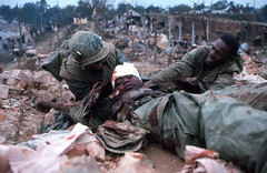 HUẾ 1968 - Tet Offensive (manhhai) Tags: graphiccontentpacific southvietnam vietnamwar battle war hue combat tetoffensive usmc marines marine urbanwarfare 1stbattalion fifthmarines wounded casualty wia blood africanamerican vietnam