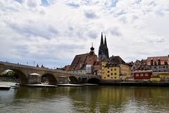 Regensburg (sharon.corbet) Tags: regensburg danube riverdanube dom stonebridge bavaria germany 2019 altsadt