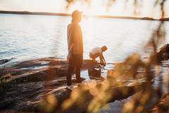 Summer vibes (AlexanderHorn) Tags: summer sunlight flare warm season finland beautiful sunset girls persons water sea