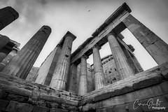 Temple of Athena Niké (corineouellet) Tags: greece grèce exposure canonphoto wideangle view contrast textures travel acropolis acropole athens athènes temple noiretblanc blackandwhite bnw