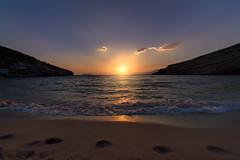 Matala Beach (liofoto) Tags: sunset couchédesoleil sun ciel sky clouds nuages colors light naturallight seascape matala crète grèce samyang14mm