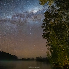 Dark and beautiful (nightscapades) Tags: bodalla newsouthwales australia airglow astronomy astrophotography bridge eurobodalla galacticcore milkyway night nightscapes orangeairglow sky southcoastnsw stars tuross turosshead turossriver