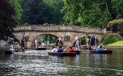 Punting on the River Cam and the Clare College Bridge DSC_0329 (troy david johnston) Tags: troydavidjohnston nikon cambridge cambridgeshire rivercam punt punter collegeguys punting cute gay hot waterway river boats boating muscles tourism clarecollege bridge stonebridge scudamores summer summertime greatbritain