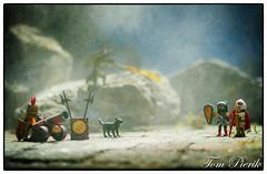 Playmobil war (Tom Pierik) Tags: playmobile toys war dog dogs snow fog macro drake mountains f14 canon playmobil