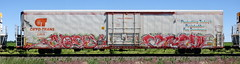 Nosey/Zew (quiet-silence) Tags: graffiti graff freight fr8 train railroad railcar art nosey zew 42 cryx cryo cryotrans reefer cryx5765