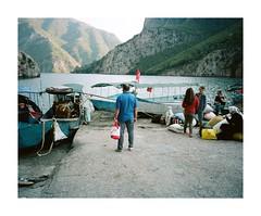 (iconicturn) Tags: komani koman komanilake albania balkan analog analogue film mediumformat 120 6x7 kodak portra mamiya7 mamiya boats boat lake mountains