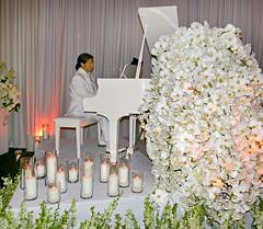 Celebration of Pat Bowlen's Life (Colorado Sands) Tags: piano pianist white man candles celebrationoflife denverbroncos flowers hawaiianorchids memorial patbowlen music tribute sandraleidholdt rip denver colorado usa