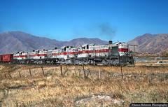 Martin Turn Through Mapleton (jamesbelmont) Tags: utahrailway train railroad railway locomotive alco rsd4 mapleton utah utahvalley martinturn