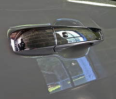 Jeep Door Handle (☼☼ Jo Zimny Photos☼☼) Tags: odc doororwindowfurniture door jeepgrandcherokee reflection silver handle reflective reflections window inthegarage backyard