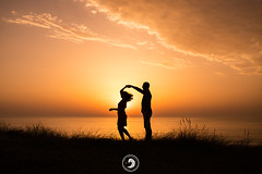 Can i Have this Dance? (popz.photographie) Tags: dance ocean sunset colors couple lovers wedding engagement clouds beautiful moment sand beach