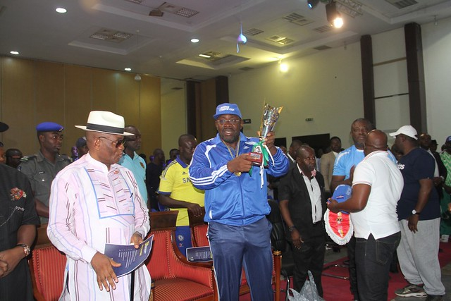 HSDickson - His Excellency At The Draw Ceremony Of The Restoration Cup 3rd Edition. 27th June 2019