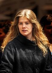 Portrait (D80_537540) (Itzick) Tags: denmark copenhagen candid color colorportrait youngwoman brunette streetphotography longhair face facialexpression d800 itzick