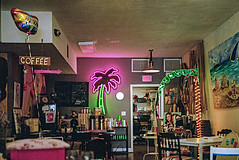 WPB006-1 (JMLPhotographyOnLine) Tags: 2019 neon signage coffeecafesdiners film 6x6 kodakporta400 rolleiflex28f epson750 80mm28 may ftlauderdale