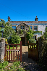 Worston Old Hall (scottprice16) Tags: england lancashire worston village ribblevalley history historic 1577 tudor building worstonoldhall percy richardgreenacres gate path stone whitwash sunshine summer june 2019 colour outdoors walking leica leicaxvario