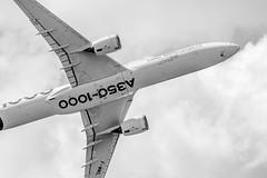 A350-1000 (Shooting Flight) Tags: aéropassion airport aircraft airlines aéroport aviation avions airbus envol dessous a350 a3501000 a3501041 a350xwb photography photos passage paris parislebourget lebourget natw canon 6d industrie fwmil msn59