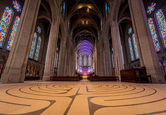 The Labyrinth At Grace Cathedral (Stefan Schafer) Tags: sanfrancisco church cathedral interior architecture meditation spiritual