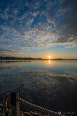 Lever de soleil 27 juin 2019 (jackbeau) Tags: 2019 heurebleue juin lacmiroir leverdesoleil nuages nuagesoranges nuagesrouges osisko reflets soleilorange