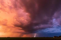 Lightning sunset (Kenny C Photography) Tags: lightning lightningbolt lightningstrike thunderstorm storm stormcloud stormphotography stormsky clouds cloudscape cloudtoground sunset sunsetcolors landscape illinois enjoyillinois 2019