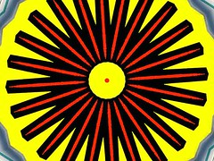 Red Dot (Kombizz) Tags: kalc50 kombizz kaleidoscope experimentalart experimentalphotoart photoart epa samsung samsunggalaxy fx abstract pattern art artwork geometricart yellow red black reddot dot