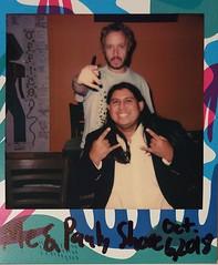 Me and Pauly Shore (matthewmartinez56) Tags: polaroid polaroidoriginals600 polaroidonestepexpress paulyshore standupcomedy laughoutloudcomedyclub sanantoniotx
