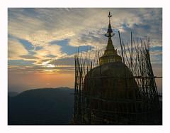 Golden Rock Sunset (www.halkaphoto.com) Tags: asia southeastasia burma myanmar mtkyaiktiyo monstate kyaiktiyopagoda buddhism buddhist buddha pilgrimage goldenrock granite boulder religion religious