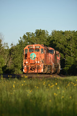Orange down Hawthorne Hill (CN Southwell) Tags: cn superior wisconsin eje gp382 703