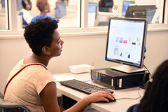 Online Graphic Design for Kids, NB 6.24.19 (slcl events) Tags: onlinegraphicdesign slcl stlouiscountylibrary library libraryprogram graphicdesign teens teenprogram naturalbridge naturalbridgebranch diversity diverseteens canva canvaonlinedesign